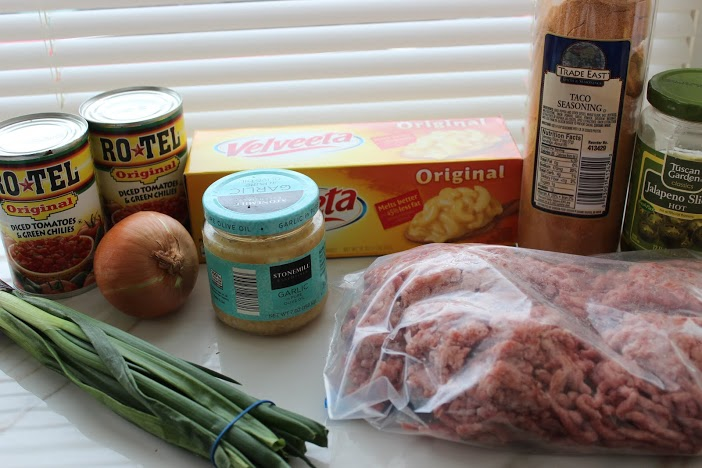 Crock Pot Mexican Cheese Dip ingredients