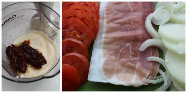 crispy prosciutto sandwich ingredients 3