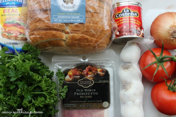 crispy prosciutto sandwich ingredients