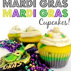 Mardi Gras Cup cakes